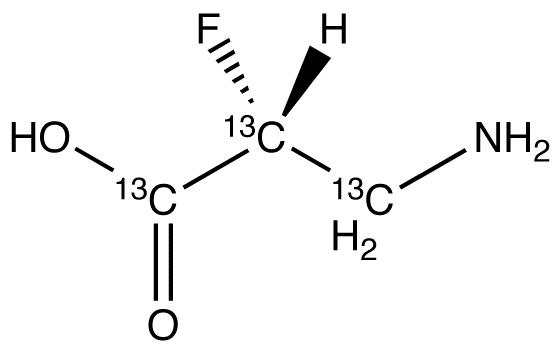 (2R)-3-Amino-2-fluoropropanoic acid-<sup>13</sup>C<sub>3</sub>