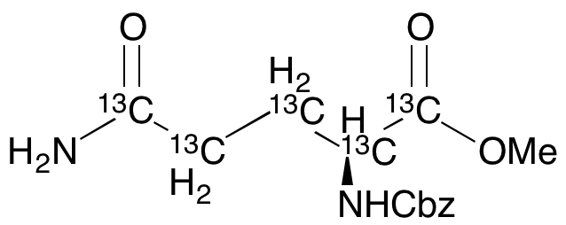 N2-[(Phenylmethoxy)carbonyl]-L-glutamine Methyl Ester-13C<sub>5</sub>