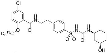 rac cis-3-Hydroxy Glyburide-d<sub>3</sub>,<sup>13</sup>C