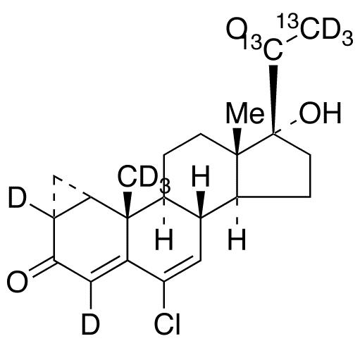 Cyproterone-<sup>13</sup>C<sub>2</sub>,d<sub>8</sub>