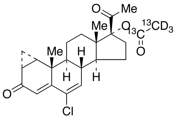 Cyproterone Acetate-<sup>13</sup>C<sub>2</sub>,d<sub>3</sub>