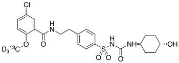 rac trans-4-Hydroxy Glyburide-d<sub>3</sub>,<sup>13</sup>C