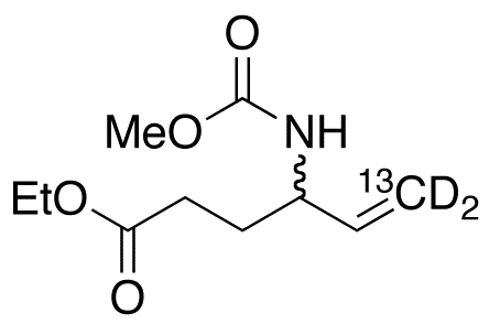 N-Methoxycarbonyl Vigabatrin-<sup>13</sup>C,d<sub>2</sub> Ethyl Ester