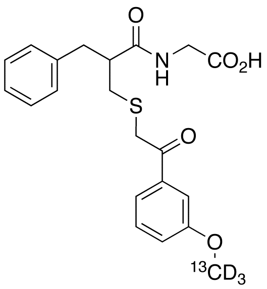 Thiorphan Methoxyacetophenone-<sup>13</sup>C,d<sub>3</sub> Derivative