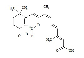 4-Oxo alitretinoin-<sup>13</sup>C,d<sub>3</sub>