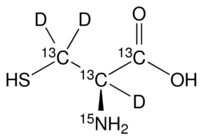 L-Cysteine-<sup>13</sup>C<sub>3</sub>,d<sub>3</sub>,<sup>15</sup>N