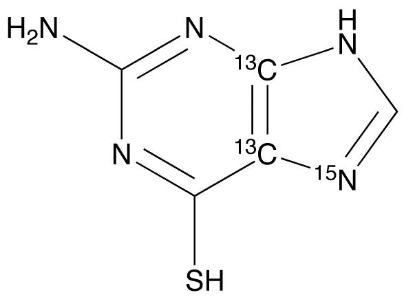 2-Amino-6-mercaptopurine-<sup>13</sup>C<sub>2</sub>,<sup>15</sup>N