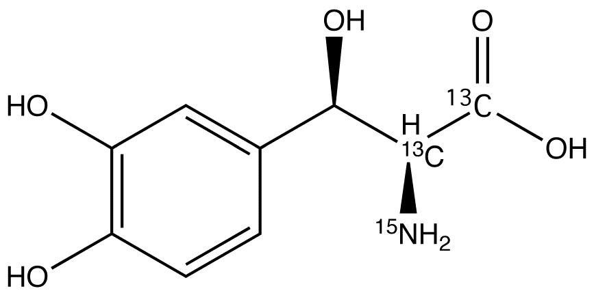 L-threo-Droxidopa-<sup>13</sup>C<sub>2</sub>,<sup>15</sup>N