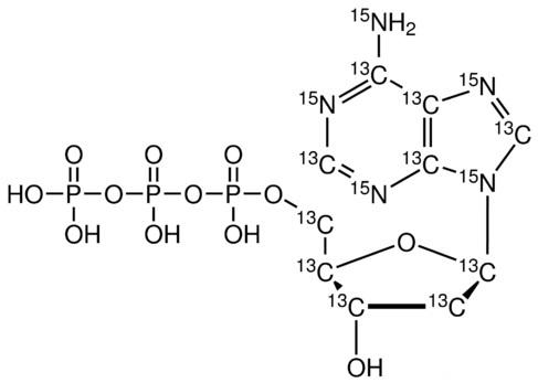 2'-Deoxyadenosine 5'-triphosphate-<sup>13</sup>C<sub>10</sub>,<sup>15</sup>N<sub>5</sub> (Li<sub>2</sub> salt)
