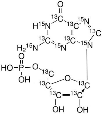 Guanosine 5'-monophosphate-<sup>13</sup>C<sub>10</sub>, <sup>15</sup>N<sub>5</sub> (Li<sub>2</sub> salt)