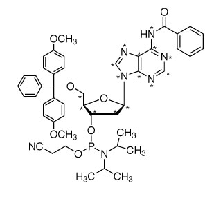 2&#146;-Deoxyadenosine-<sup>13</sup>C<sub>10</sub>,<sup>15</sup>N<sub>5</sub>-phosphoramidite