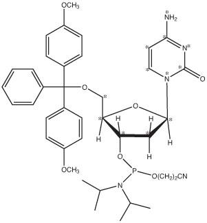 2'-Deoxycytidine-<sup>13</sup>C<sub>9</sub>,<sup>15</sup>N<sub>3</sub>-Phosphoramidite