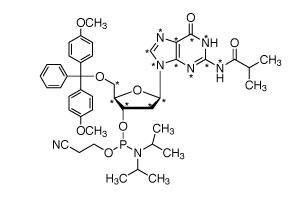 2&#146;-Deoxyguanosine-<sup>13</sup>C<sub>10</sub>,<sup>15</sup>N<sub>5</sub>-Phosphoramidite