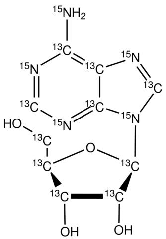Adenosine-<sup>13</sup>C<sub>10</sub>,<sup>15</sup>N<sub>5</sub>