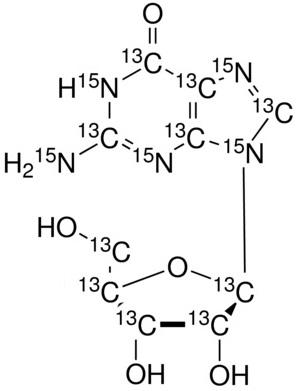 Guanosine-<sup>13</sup>C<sub>10</sub>,<sup>15</sup>N<sub>5</sub>