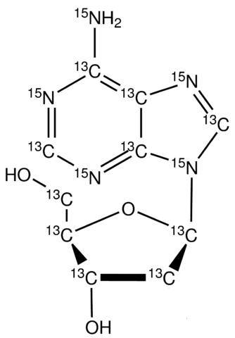 2'-Deoxyadenosine-<sup>13</sup>C<sub>10</sub>,<sup>15</sup>N<sub>5</sub>