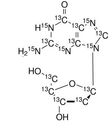 2&#146;-Deoxyguanosine-<sup>13</sup>C<sub>10</sub>,<sup>15</sup>N<sub>5</sub>