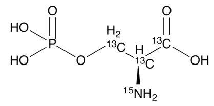 L-O-Phosphoserine-<sup>13</sup>C<sub>3</sub>,<sup>15</sup>N