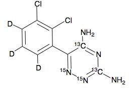 Lamotrigine-13C2-15N2-d3