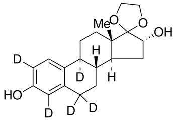 17,17-Ethylenedioxy-1,3,5(10)-estratriene-3,16a-diol-d<sub>5</sub>