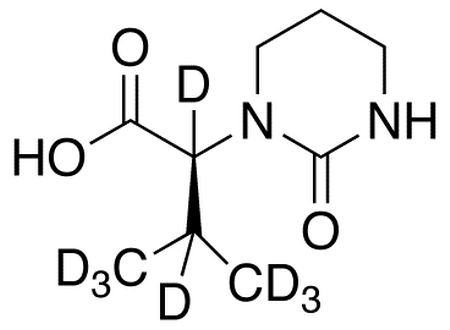(S)-Tetrahydro-α-(1-methylethyl)-2-oxo-1(2H)-pyrimidine-acetic Acid-d<sub>8</sub>