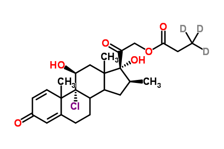 Beclomethasone 21-Monopropionate-3,3,3-d<sub>3</sub>