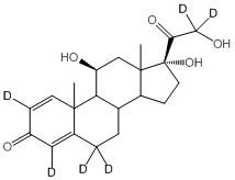 Prednisolone-2,4,6,6,21,21-d<sub>6</sub>