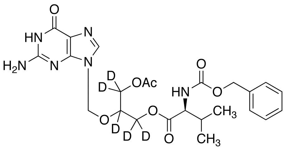 O-Acetyl N-Benzyloxycarbonyl Valganciclovir-d<sub>5</sub>
