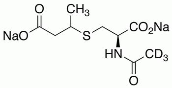 N-(Acetyl-d<sub>3</sub>)-S-(3-carboxy-2-propyl)-L-cysteine Disodium Salt