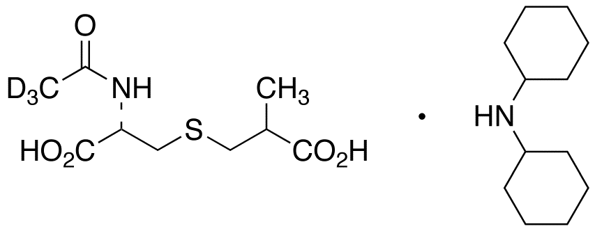 N-(Acetyl-d<sub>3</sub>)-S-(2-carboxypropyl)-L-cysteine Dicyclohexylammonium Salt (Mixture of Diastereomers)