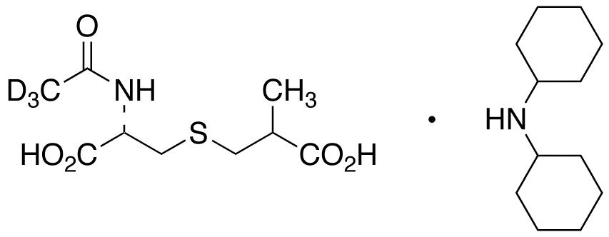 N-(Acetyl-d<sub>3</sub>)-S-(2-carboxypropyl)-L-cysteine Dicyclohexylammonium Salt (Mixture of Diastereomers)