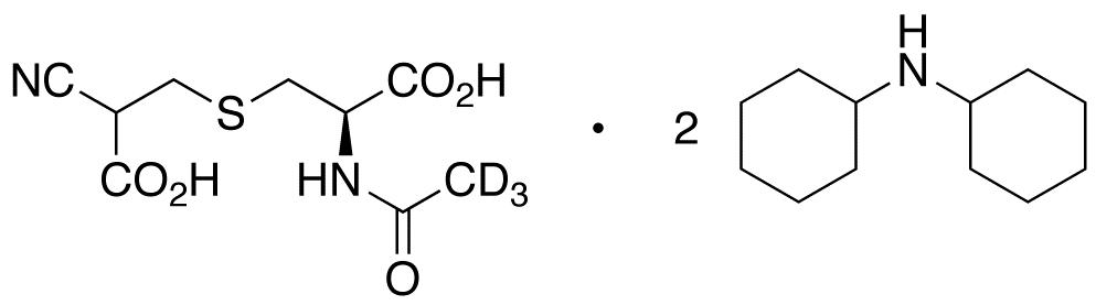 N-Acetyl-S-(2-cyanocarboxyethyl)-L-cysteine-d<sub>3</sub> Bis(dicyclohexylamine) Salt