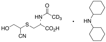N-(Acetyl-d<sub>3</sub>)-S-(1-cyano-2-hydroxyethyl)-L-cysteine Dicyclohexylamine Salt(Mixture of Diastereomers)