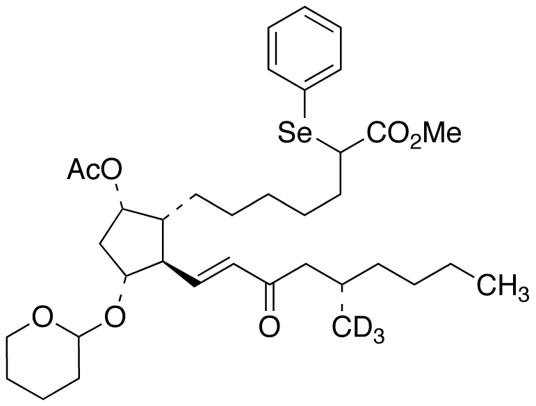 (11&#945;,13E,17S)-9-O-Acetyl-17,20-dimethyl-15-oxo-2-(phenylseleno)-11-O-tetrahydropyranyl-prosta-13-en-1-oic Acid-d<sub>3</sub> Methyl Ester (Mixture of Diastereomers)