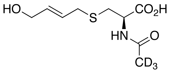 N-Acetyl-S-(4-hydroxy-2-buten-1-yl)-L-cysteine-d<sub>3</sub>