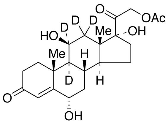 21-O-Acetyl 6α-hydroxy cortisol-d<sub>4</sub>