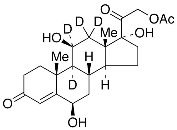 21-O-Acetyl 6β-hydroxy cortisol-d<sub>4</sub>