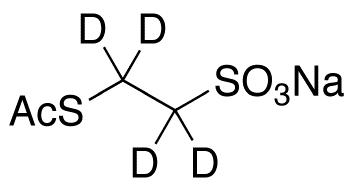 2-Acetylthioethanesulfonic Acid-d<sub>4</sub> Sodium Salt