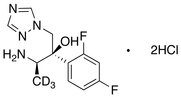 (αR)-α-[(1R)-1-Aminoethyl]-α-(2,4-difluorophenyl)-1H-1,2,4-triazole-1-ethanol-d<sub>3</sub> DiHCl