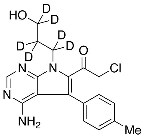 1-[4-Amino-7-(3-hydroxypropyl)-5-(4-methylphenyl)-7H-pyrrolo[2,3-d]pyrimidin-6-yl]-2-chloro-ethanone-d<sub>6</sub>