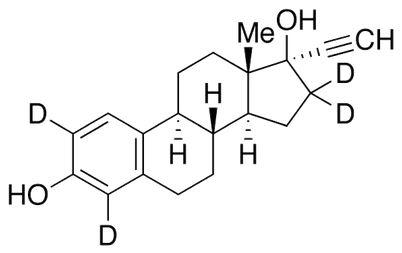 17&#945;-Ethynylestradiol-2,4,16,16-d<sub>4</sub>