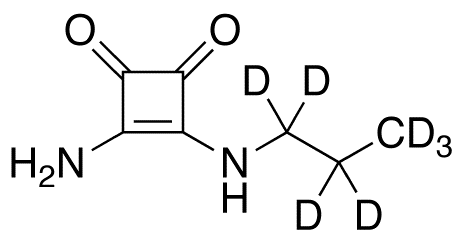 3-Amino-4-(propylamino)-3-cyclobutene-1,2-dione-d<sub>7</sub>