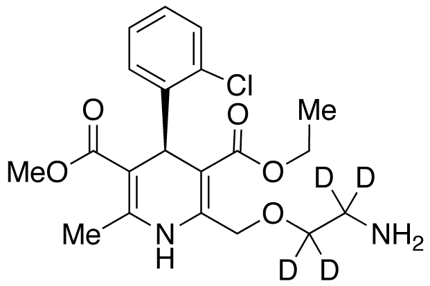 (R)-Amlodipine-d<sub>4</sub>