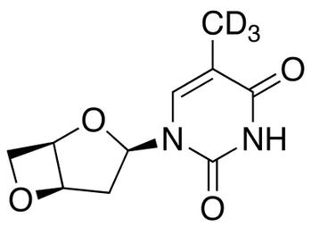 1-(3,5-Anhydro-2-deoxy-&#946;-D-threo-pentofuranosyl)-5-methyl-2,4(1H,3H)-pyrimidinedione, Methyl-d<sub>3</sub>