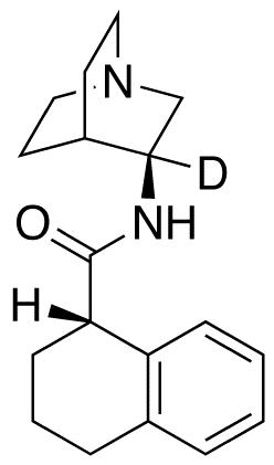 (1S)-N-(3S)-1-Azabicyclo[2.2.2]oct-3-yl-1,2,3,4-tetrahydro-1-naphthalenecarboxamide-d<sub>1</sub>