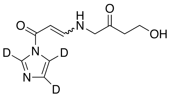 1-(4-Aza-8-hydroxy-6-oxo)oct-2-en-1-oylimidazole-d<sub>3</sub>(mixture E/Z)