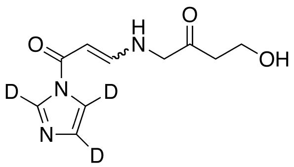 1-(4-Aza-8-hydroxy-6-oxo)oct-2-en-1-oylimidazole-d<sub>3</sub>(mixture E/Z)