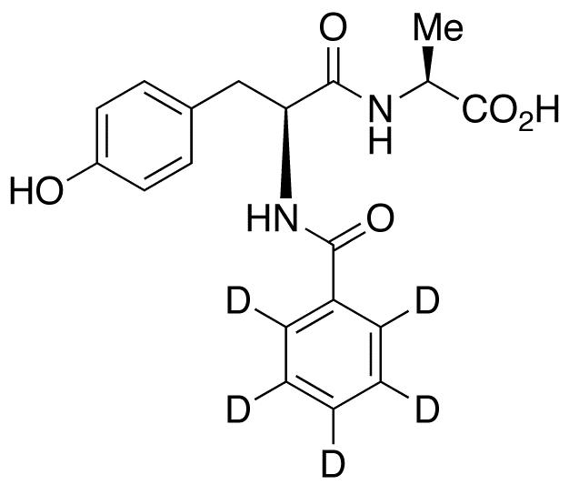 N-(N-Benzoyl-L-tyrosyl)-L-alanine-d<sub>5</sub>