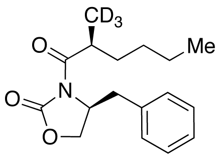 (4S,αS)-4-Benzyl-3-(α-methyl-1-oxohexyl)-2-oxazolidinone-d<sub>3</sub>
