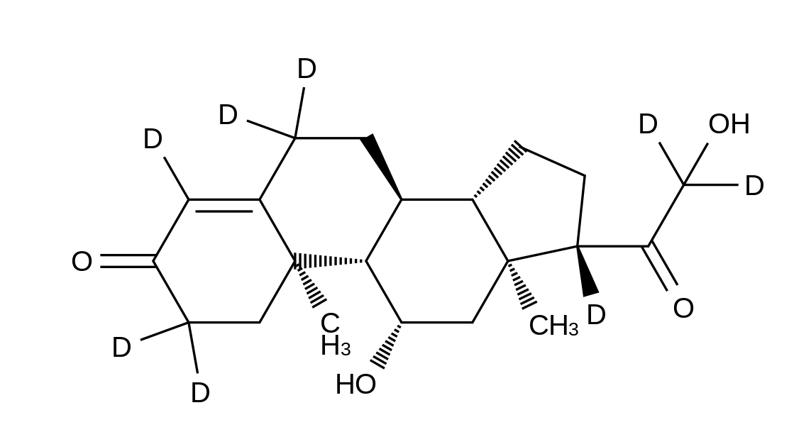 4-Pregnen-11&#946;,21-diol-3,20-dione-2,2,4,6,6,17&#945;,21,21-d<sub>8</sub>